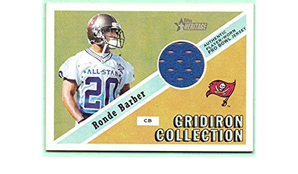 new style f7e72 74edc Ronde Barber 2002 Topps Heritage Pro Bowl Worn Jersey #GC-RB ...