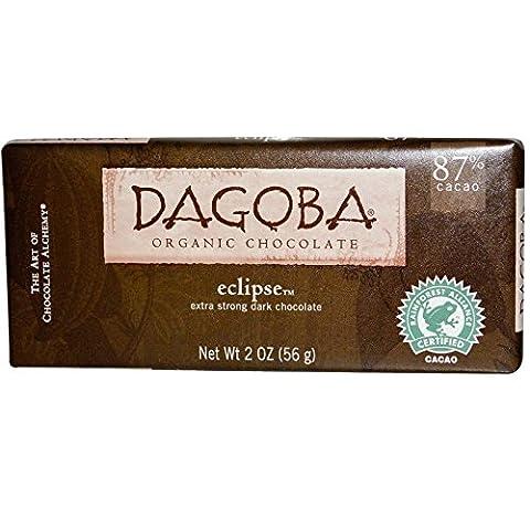 Dagoba Organic Chocolate, Eclipse, Extra Strong Dark Chocolate, 2 oz pack of 2 - Cocoa Extra Dark Chocolate