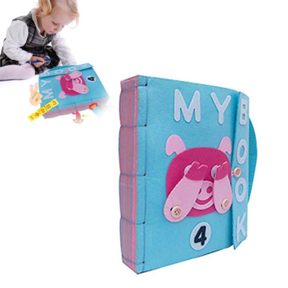 bouncevi Baby Tuch B/ücher Montessori Thema F/ühlte Sich Ruhig B/ücher Baby Kleidung Buch Fr/üherziehung Spielzeug Aktivit/ät Crinkle Tuch Buch F/ür Ihr Baby