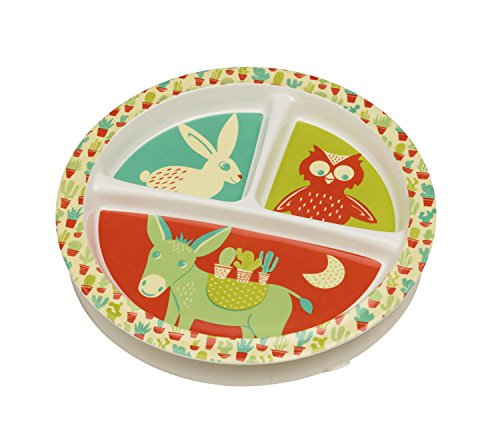 - Sugarbooger Divided Suction Plate, Happy Cactus
