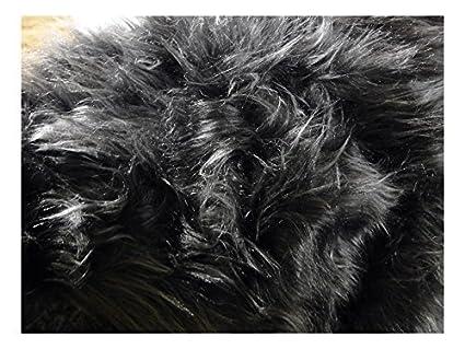 buy online ac748 d52af Fabrics-City Tessuto in pelliccia sintetica a pelo lungo, venduto al metro,  2707 grigio