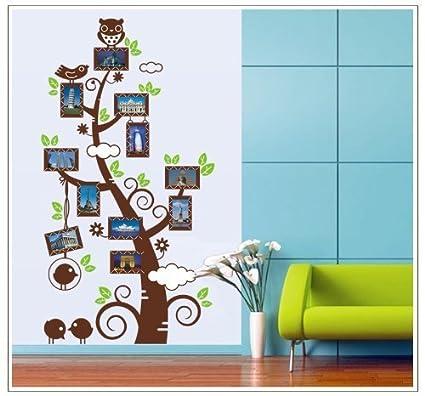 Amaonm Familia de color café marco de fotos Árbol Pared de hojas ...