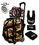KAZE SPORTS 2 Ball Bowling Roller with Color Match Add On Spare Tote and Accessories Pack (Camo) For Sale