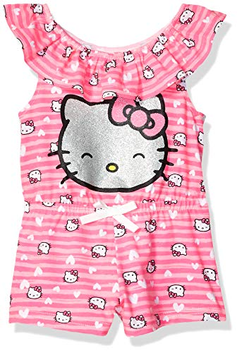 (Hello Kitty Baby Girls' Knit Romper, Pink 18M)
