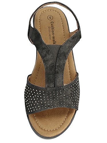 Cushion Walk Femme Sandales Sandales Femme Gris Cushion Gris Walk Cushion nqApx6wR