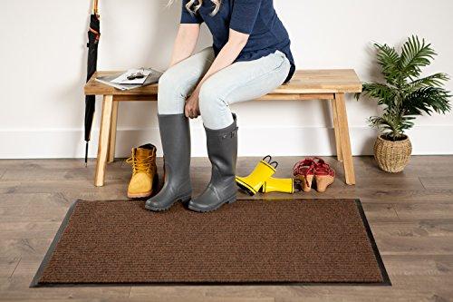 J&M Long Utility Doormat Heavy Duty Durable Indoor/Outdoor Ribbed and Waterproof 30x48