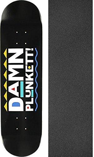 戻すスカープ命令的Skate Mental Dan PlunkettプランケットDamnスケートボードデッキ – 8.125