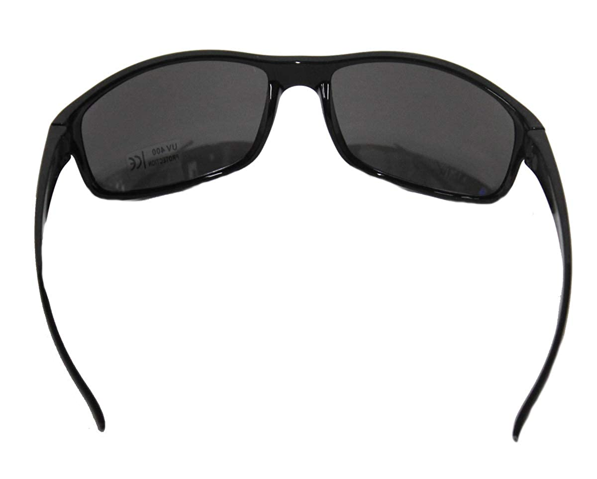 Racing Golfing Cycling and Casual Uses UV 400 Protection Driving Mirror Lenses Sports Wrap Sun Glasses for Fishing Running Rectangular Black Sunglasses for Men /& Women Hiking