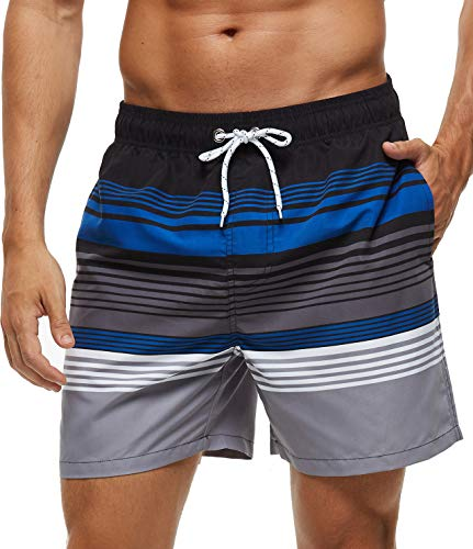 SILKWORLD Men's Swim Trunks Quick Dry Shorts with Pockets