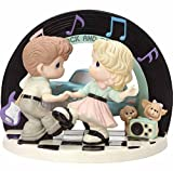 Precious Moments I Love The Way We Rock & Roll Limited Edition Bisque Porcelain Sculpture 163060