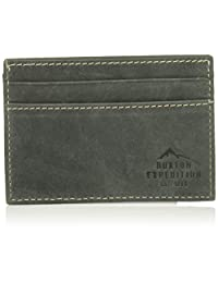 Buxton Men's Expedition Ii RFID Blocking Leather Front Pocket Getaway Wallet, black, One Size