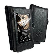 Tuff-Luv Faux Leather Case Cover for Sony Walkman NW-A35 - Black