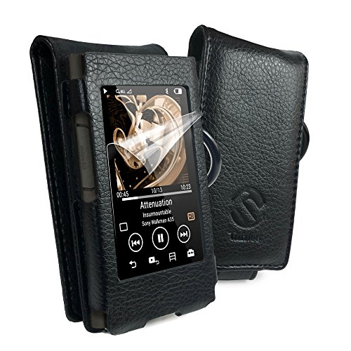 Tuff-Luv Faux Leather Case Cover for Sony Walkman NW-A35 - Black by Tuff-luv