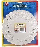 Hygloss 10081 100-Piece Round Doilies, 8-Inch, White