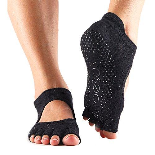 toesox Grip Pilates Barre Socks – Non-Slip Bellarina Half Toe Yoga & Ballet