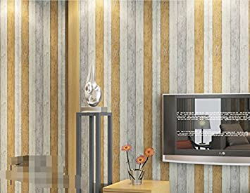 Reyqing Tapeten Vliestapeten Mediterranen Stil Holz Muster Tapete