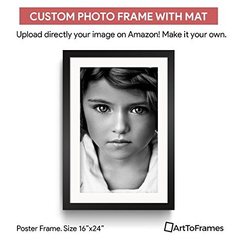 ArtToFrames Custom Printed Matted High Definition Quality Photo 16 x 24, Framed in Satin Black with 2 Inch Super White (Framed Photo Mat)