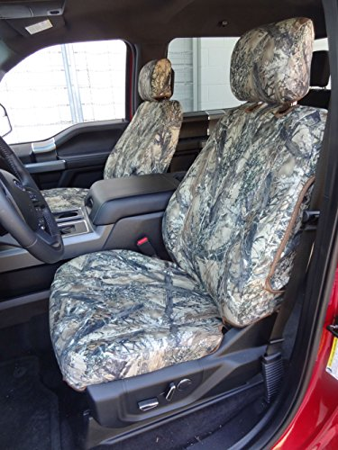 Durafit Seat Covers, F511 Waterproof Seat Covers MC2 Camo Endura for 2015-2018 Ford F150/F250-F550 XL/XLT/Lariat Front Buckets, Adjustable HR, Manual OR Electric Seats, Side Impact Airbags in ()