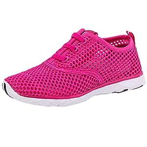 ALEADER Kid's Quick Dry Water Shoes Comfort Walking Sneakers Red 4 M US Big Kids