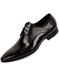 Men Genuine Leather Oxford Shoes Lace up Brogue Shoes Formal Dress Shoes