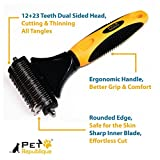 Pet Republique Professional Dematting Comb Rake