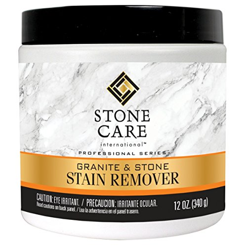 Stone Care International Stone Stain Remover Poultice Powder - Safely Removes Deep Food, Ink, Mildew and Oil Stains From Stone Surfaces - 12oz by Stone Care International
