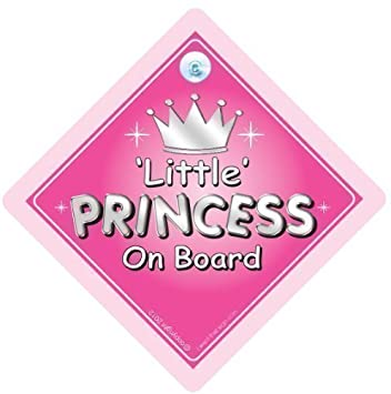 Personalised Child/baby On Board Car Sign ~ Little Princes On Board ~ D.blue Durable Service Other Baby Safety & Health