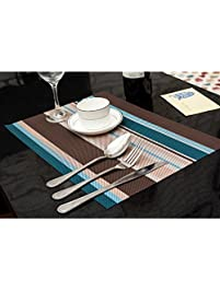 amorus washable placemats heat insulation non slip table mats for kitchen dining set of 6. beautiful ideas. Home Design Ideas