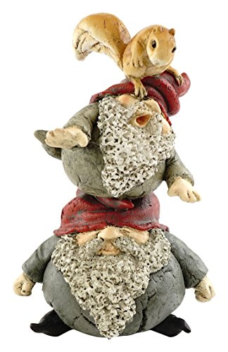(Top Collection Miniature Fairy Garden and Terrarium Gnomes Stacking with Squirrel Figurine)