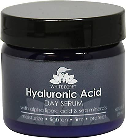 white egret hyaluronic acid day serum, 2 fluid ounce Natural Skin Care Toner Cool Cucumber - 5 oz. by DeVita (pack of 1)