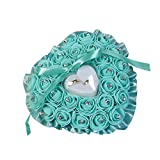 Best Ring Pillow With Pearl Rhinestones - Honghong Wedding Ring Pillow Heart Box With Ribbon Review