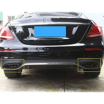 304 Stainless Steel Pipe Tail Throat Exhaust Black Outputs Tail Frame Trim Cover 2pcs For A/B/C/E-Class W205 W246 W213 GLE GLS CLA GLC