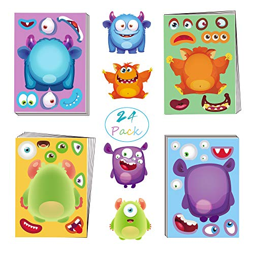 Activity Day Halloween Party (Joy Day Make A Monster Stickers Halloween Stickers for Kids Halloween Party Supplies Activities for Monster Themed Birthday Party Games - Fun DIY Face Stickers Craft Project Get)