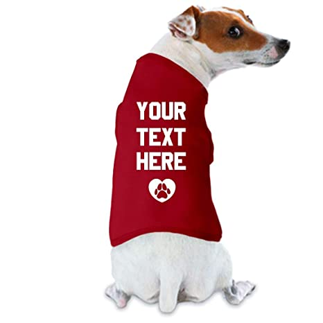 Amazon Com Custom Dog Shirt Small Breed Dog Tank Top Pet Supplies