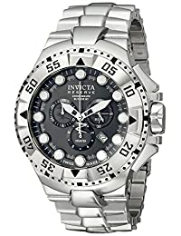 Invicta Men's 13082 Excursion Reserve Chronograph Charcoal Grey Dial Stainless Steel Watch