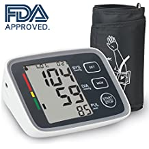 Upper Arm Blood Pressure Monitor, feifuns BP Monitor with Memory Storage,with Automatic Digital Blood Pressure Cuff 8.7 To 12.6 Inch 2 User Mode, Large LCD Screen, FDA Approved, Portable for Home Use