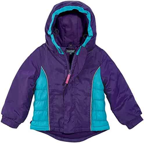 bfe16628 Cozy Cub Premium Waterproof Grow-With-Me Hooded Winter Jacket, Girls Ages 1