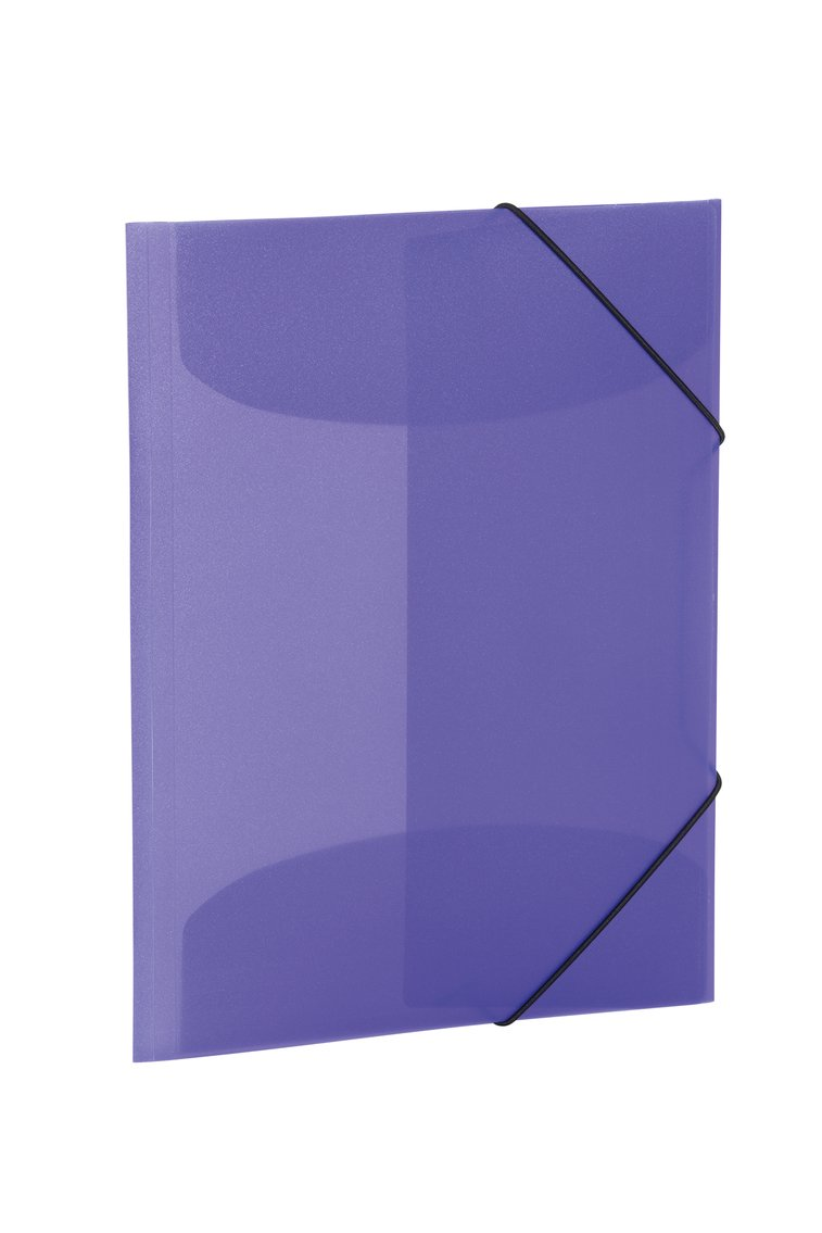 Herma 19581 Folder A4 Plastic with Rubber Corners, Clear/Purple