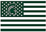 Michigan State Spartans 3x5FT Stars and Stripes Flag Spartans-nation For Sale
