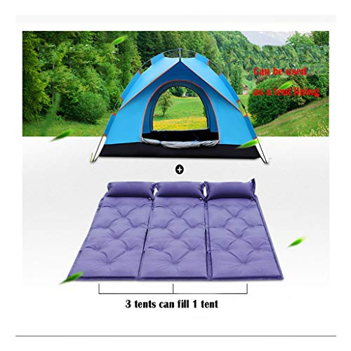 Sallymonday Imported Ultralight Inflatable Sleeping Mat with Pillow Mattress and Bag Purple, Automatic Inflatable with Pillow Mattress, Best Self Serving Pad for Camping Backpacking Hiking