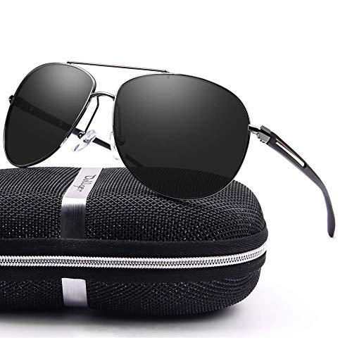 Polarized sunglasses for Men Women Polarized Premium Military Style Classic Fashion Metal Frame
