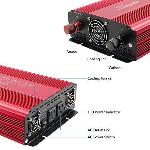soyond 3000W Power Inverter for Home Car RV with AC Outlets Converter DC 12V in to AC 110V Out by soyond (Image #2)