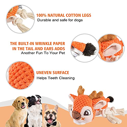 Squeaky Dog Toys, Indestructible Dog Chew Toy, Christmas Easter Interactive Dog Toy, Dog Toys for Large Medium Puppy Dogs