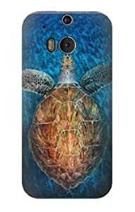 S1249 Blue Sea Turtle Case Cover For HTC ONE M8