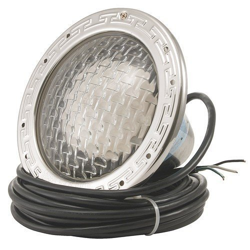 Pentair 78435100 Amerlite Underwater Incandescent Pool Light with Stainless Steel Face Ring, 12 Volt, 100 Foot Cord, 300 Watt