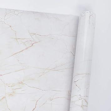 Hode Vinilo Adhesivo Marmol para Cocina,Muebles,Pared, Azulejo 45 cm × 200 cm Pegatina Decorativa Impermeable, Resistente Aceite y Humedad,Papel ...