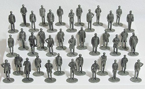 Danbury Mint - Pewter Statues - Presidents of the United States Collection - Complete Set of - Us Danbury
