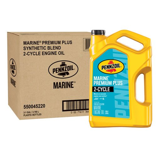 Pennzoil 550045220-3PK 1 gallon Marine Premium Plus Outboard (2 Cycle 1 gal. jug) by Pennzoil