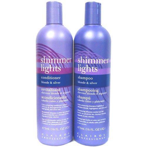 (Clairol Shimmer Lights Shampoo + Conditioner 16 oz
