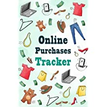Online Purchases Tracker: Watercolor Elements Personal Shopping Expense Tracker Log Book